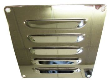 120mm x 120mm STAINLESS STEEL MARINE LOUVERED AIR VENT boat yacht caravan